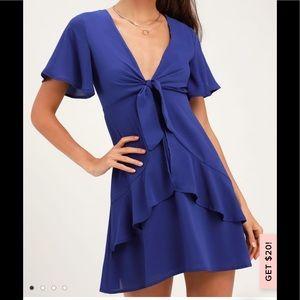 Lulus Royal Blue Tie Dress